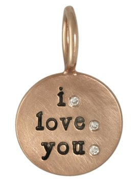 "Heather Moore ""I Love You"" Round Charm"