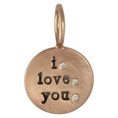 "Heather B. Moore Online ""I Love You"" Round Charm"