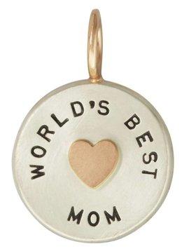 "Heather B. Moore Online ""World's Best Mom"" Charm"