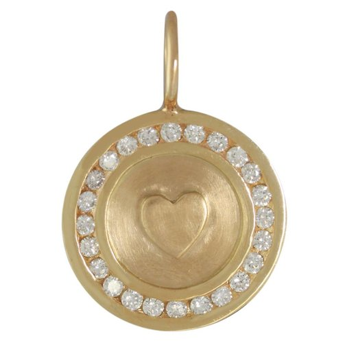 Heather Moore Diamond Heart Charm