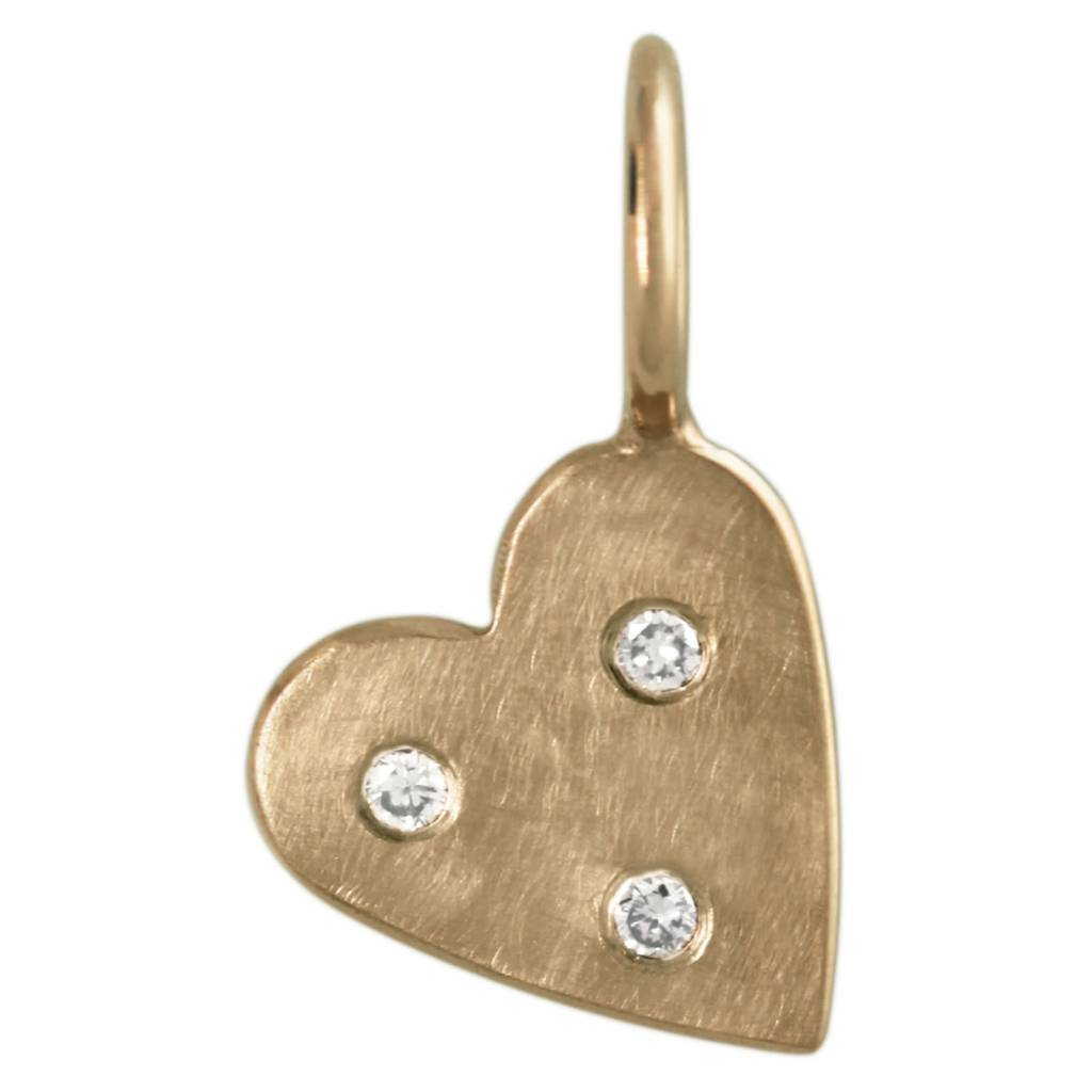 Heather Moore Diamond Heart Charm