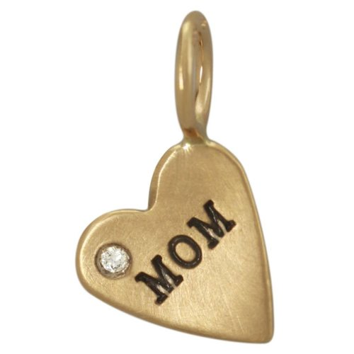 "Heather B. Moore Online ""Mom"" Heart Charm"