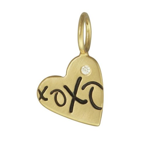 "Heather Moore ""XOXO"" Heart Charm"