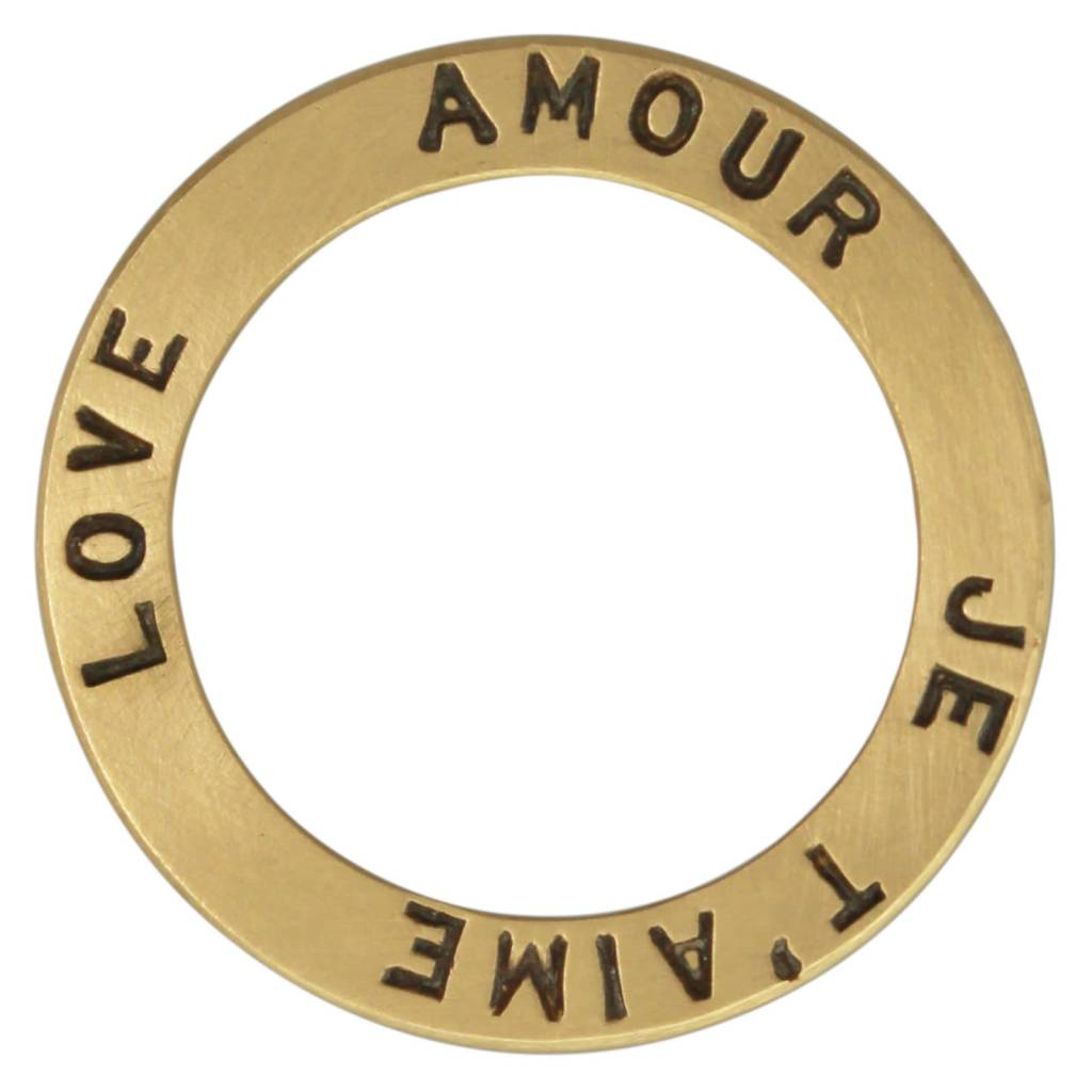 "Heather B. Moore Online ""Love"" Open Circle Charm"