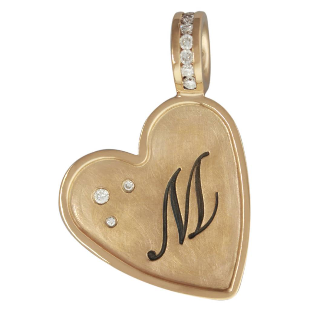 Heather Moore Heart Initial Charm