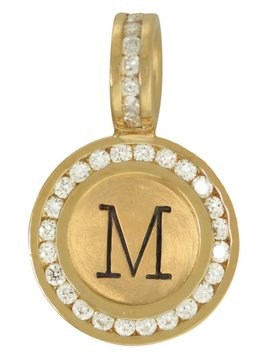 Heather Moore Channel Set Diamond Initial Charm