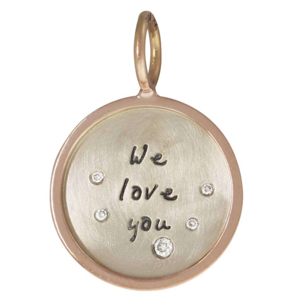 "Heather B. Moore Online ""We love you"" Charm"