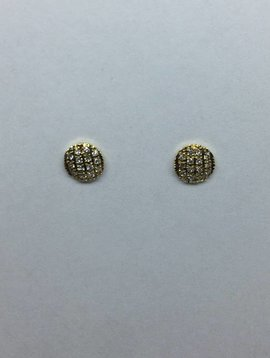 Dana Rebecca Small Round Yellow Gold Studs