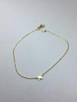 Jennifer Meyer Single Star Gold Bracelet