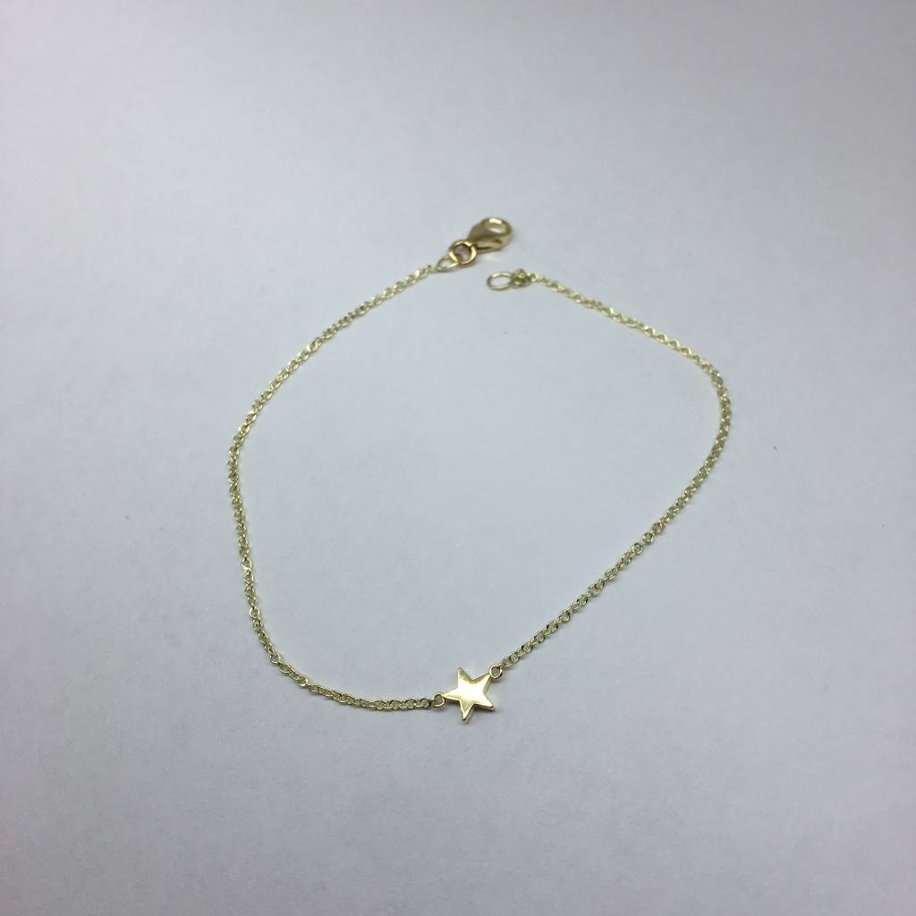 Jennifer Meyer Single Star Gold Bracelet