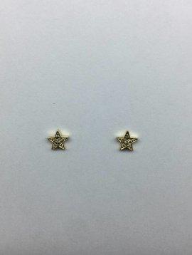 Jennifer Meyer Yellow Gold and Diamond Star Studs