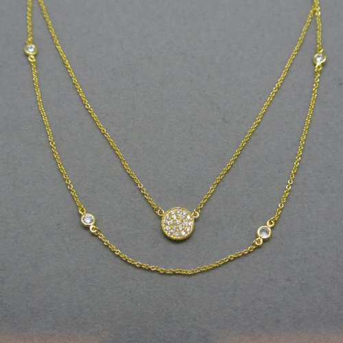 Nyla Star Layered Disc Necklace
