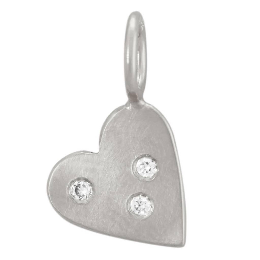 Heather B. Moore Online Three Diamond Heart Charm