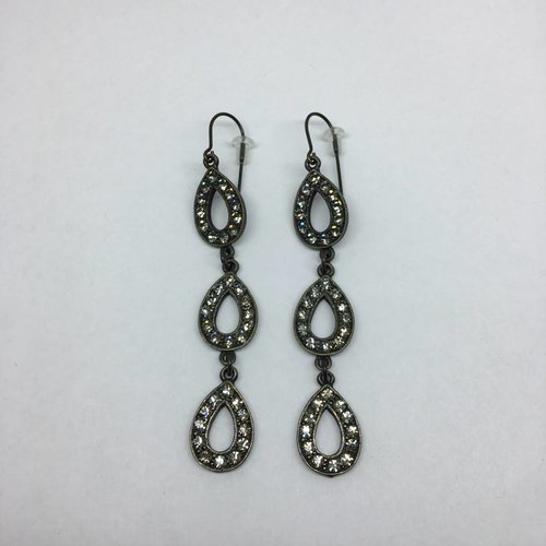 Rebel Design Crystal Teardrop Earring
