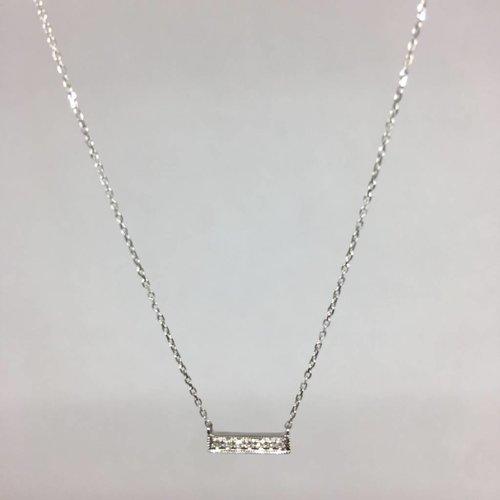 Dana Rebecca White Gold Bar Necklace
