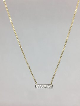 Dana Rebecca Yellow Gold Bar Necklace