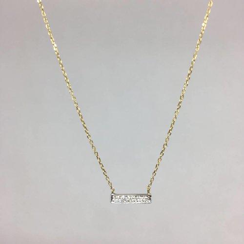 Dana Rebecca Yellow Gold Bar Necklace