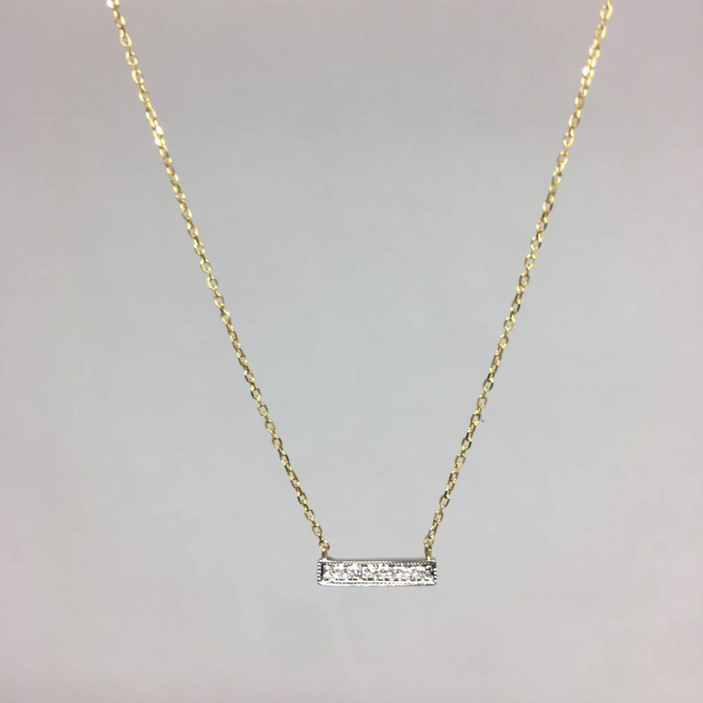 Dana rebecca yellow gold bar necklace townhome dana rebecca yellow gold bar necklace aloadofball Image collections