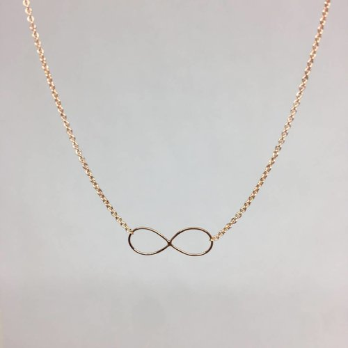 Zoe Chicco Rose Gold Infinity Necklace