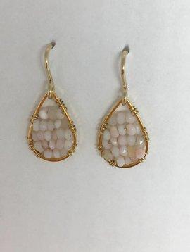 Pink Opal Micro Posh Earrings