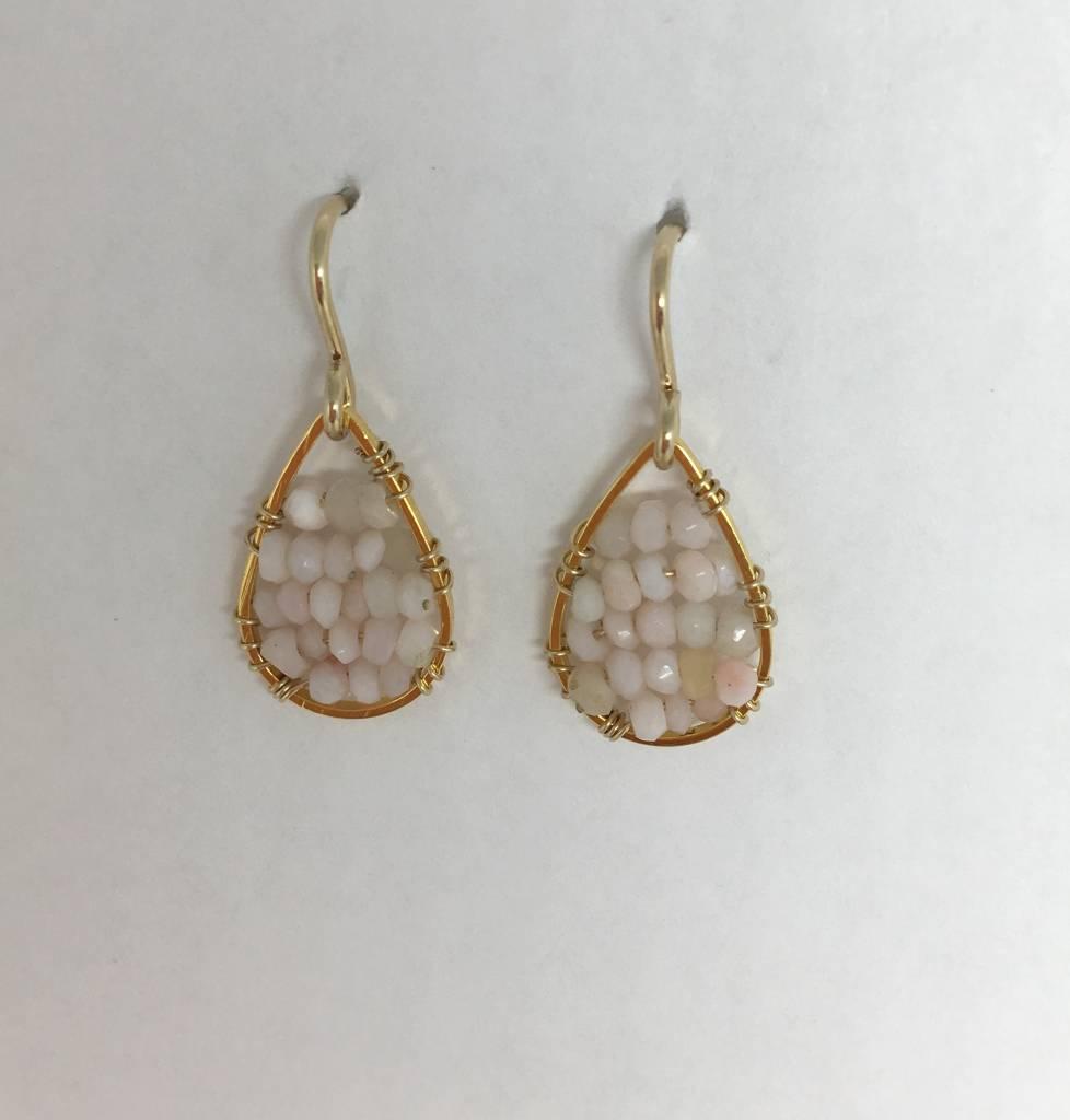 SonyaRenee Pink Opal Micro Posh Earrings