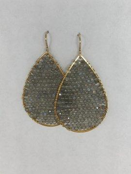 Labradorite Posh Earrings
