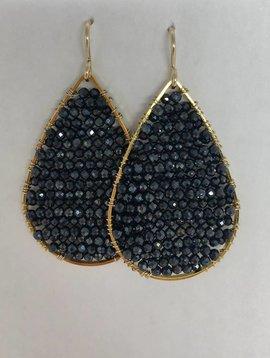 Black Spinnel Posh Earrings