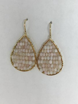 Pink Opal Mini Posh Earrings
