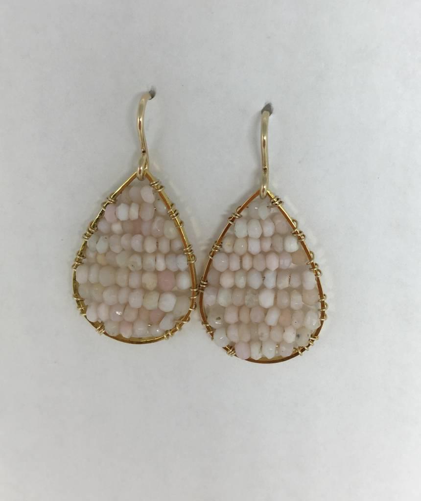 Pink Opal Mini Posh Earrings