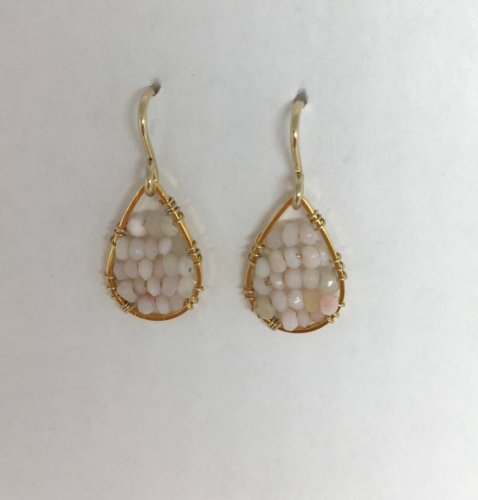 Pink Opal Micro Posh Earrings