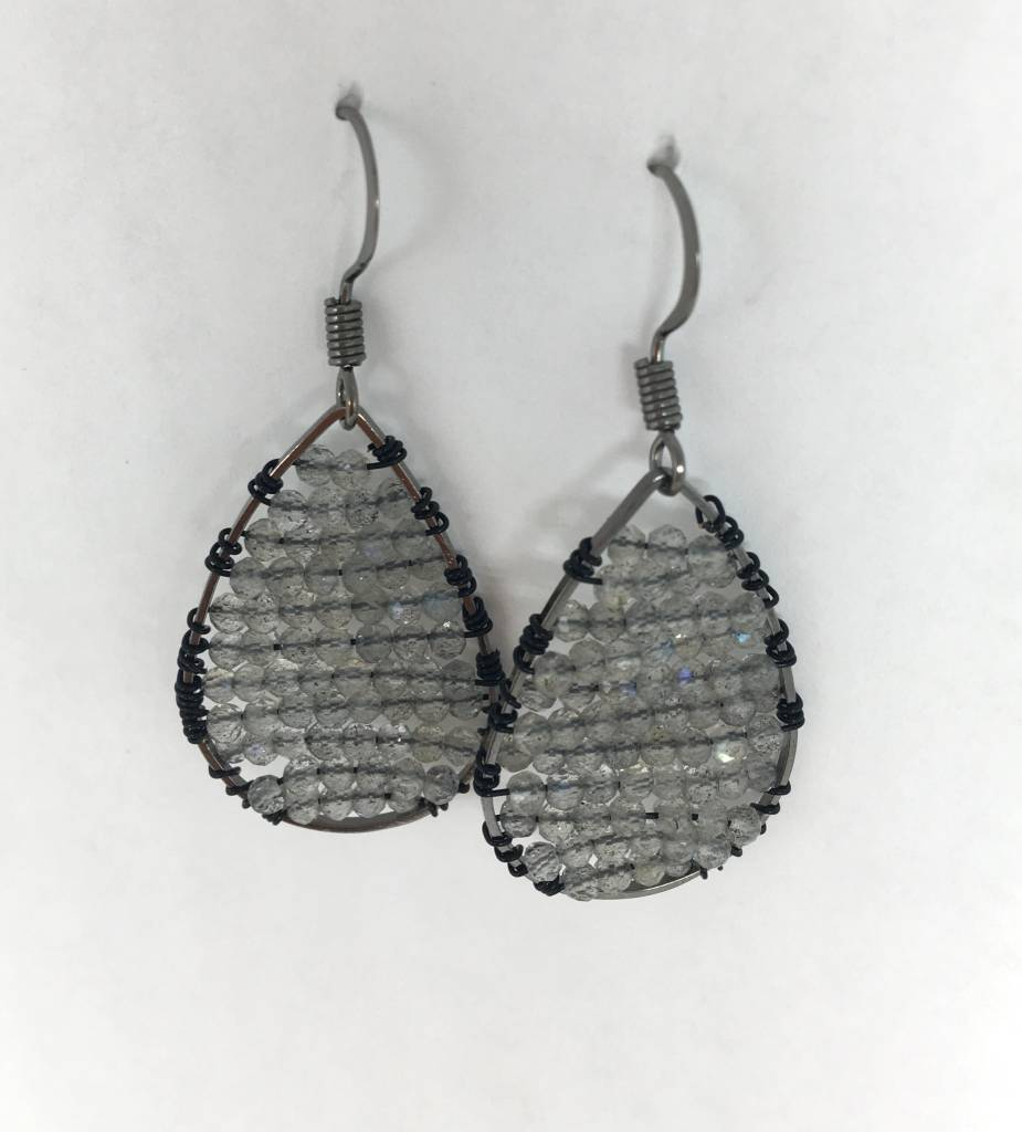 SonyaRenee Labradorite Mini Posh Earrings