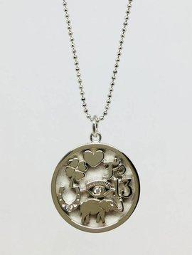 Jennifer Meyer White Gold Good Luck Necklace