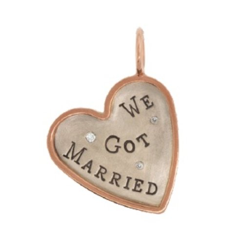 "Heather B. Moore Online ""We Got Married"" Charm"