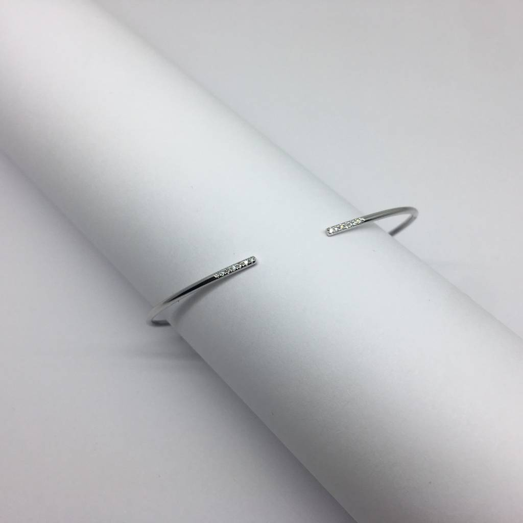 Majolie White Gold and Diamond Bangle