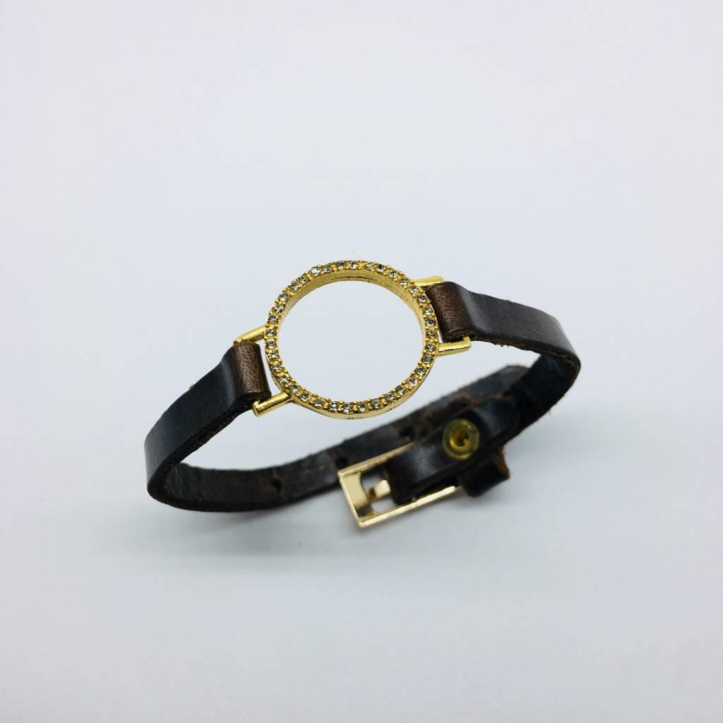 Rebel Design Open Circle Leather Bracelet
