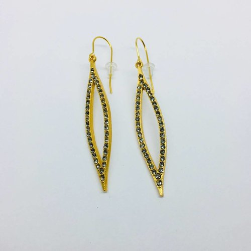 Rebel Design Swarovski Leaf Drop Earring