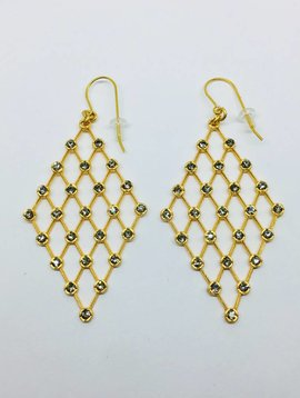 Rebel Design Swarovski Chain Mail Earring