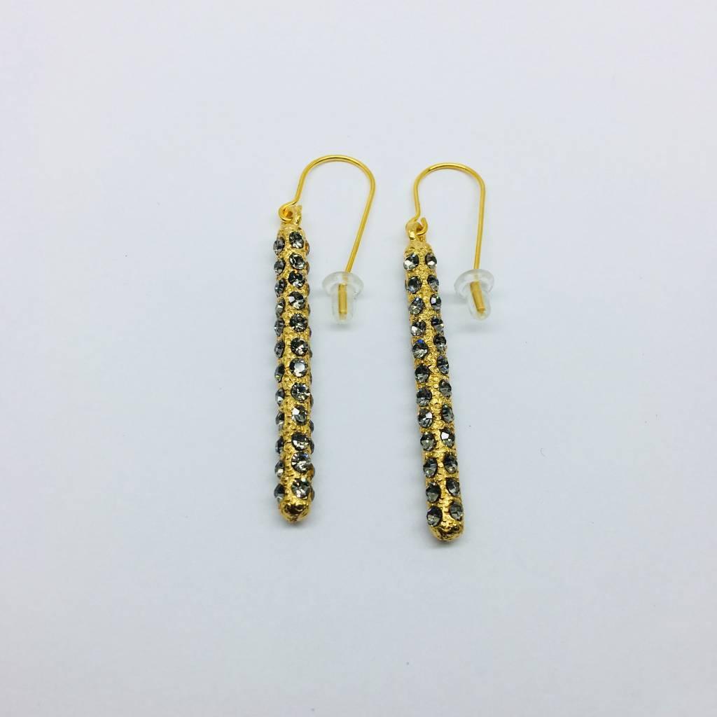 Rebel Design Swarovski Crystal 360 Drop Earrings