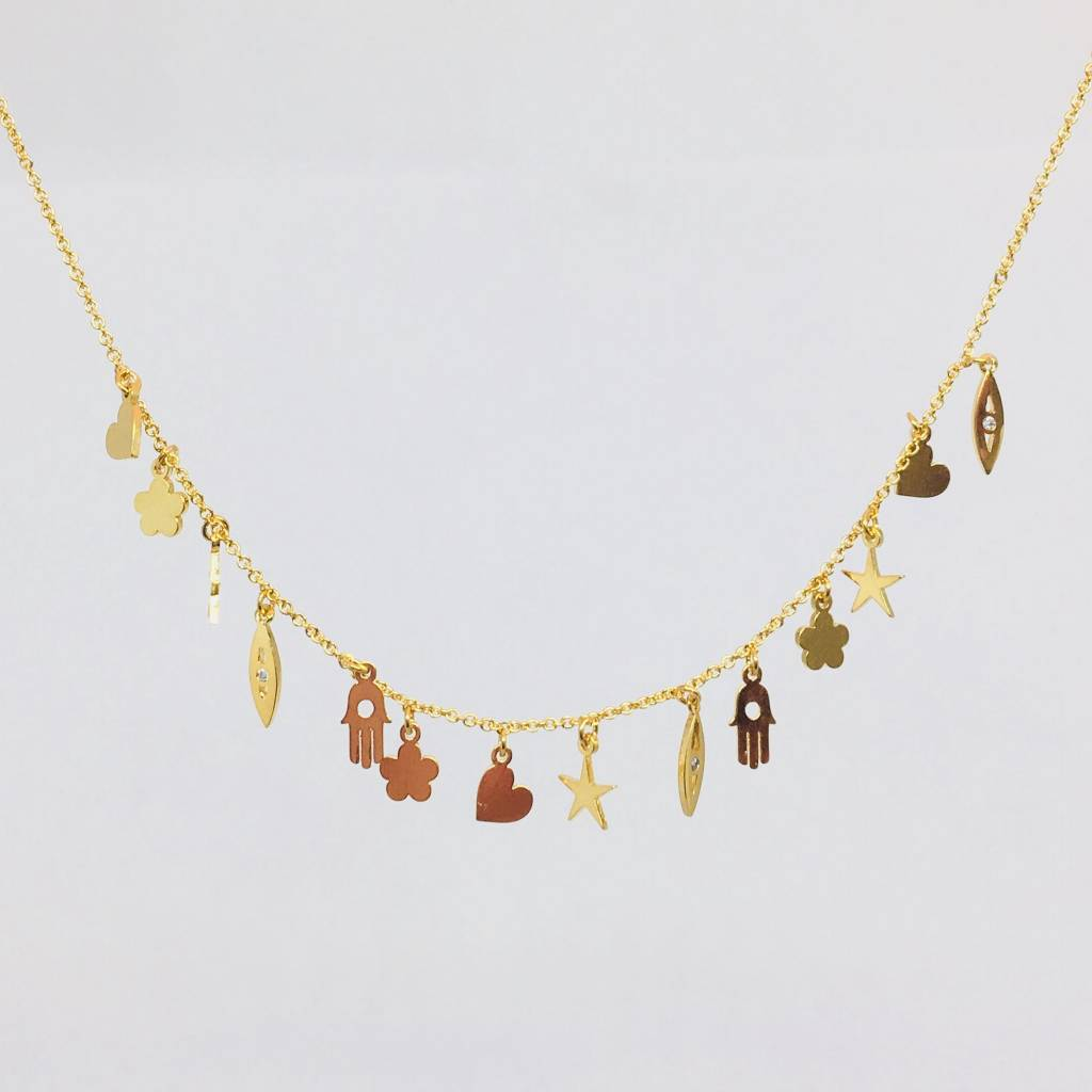 Tai Gold Charm Necklace