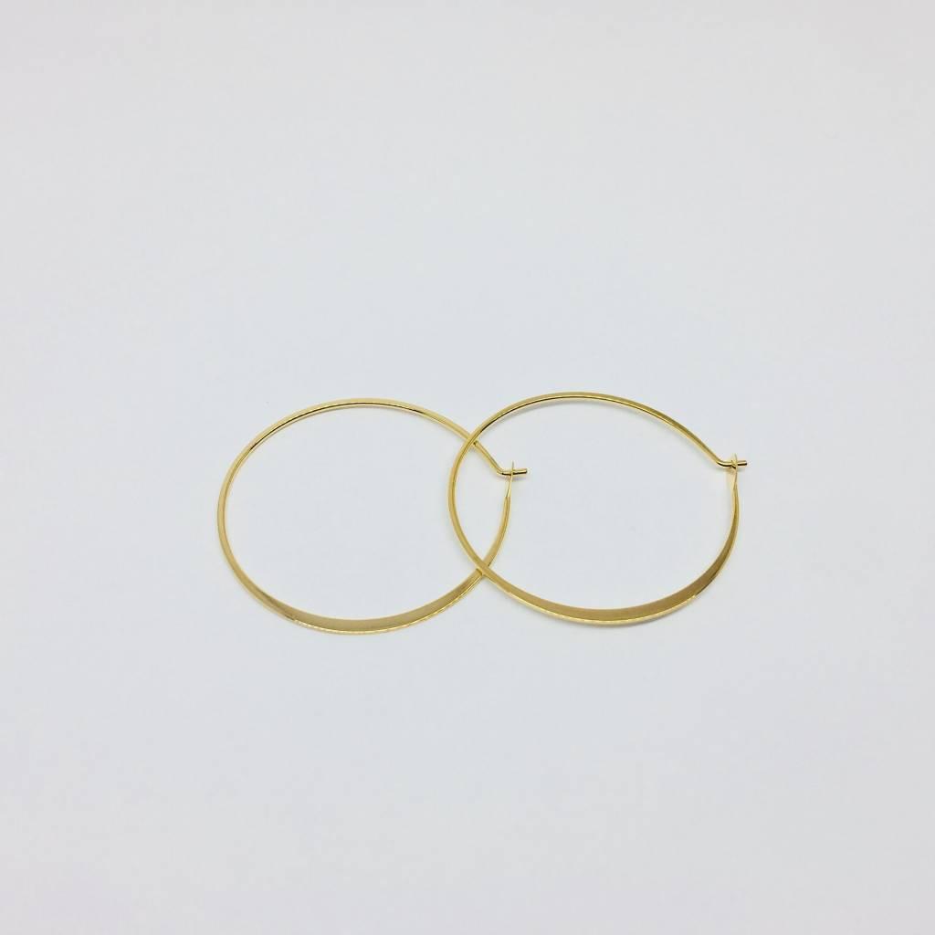 Tai Medium Gold Hoops