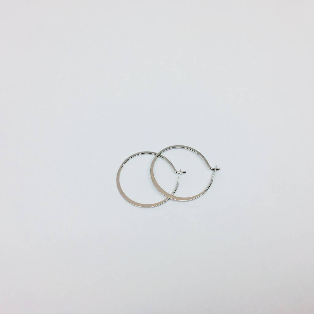 Tai Small Silver Hoops