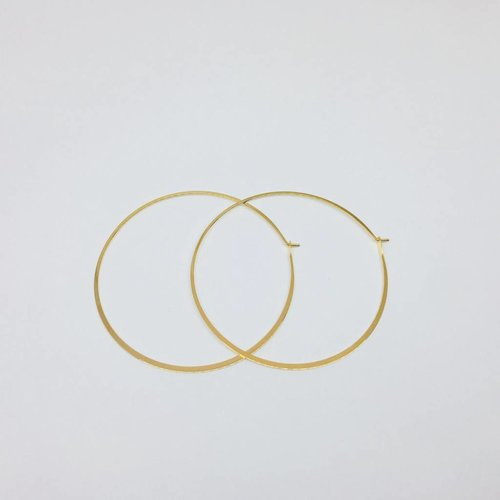 Tai X-Large Gold Hoops