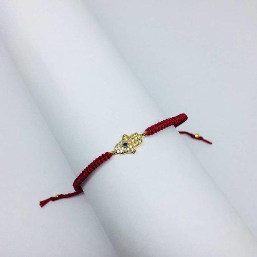 Tai Red Hamsa Bracelet