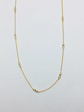 Dana Rebecca Bezel Station Necklace