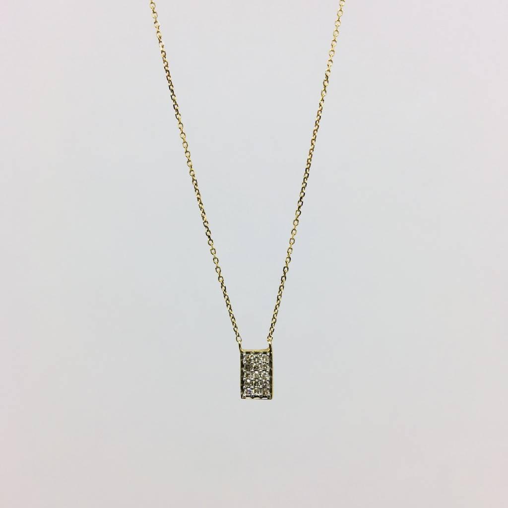 Adina Reyter Pave Rectangle Necklace