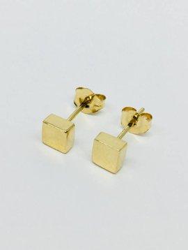 Adina Reyter Gold Cube Posts