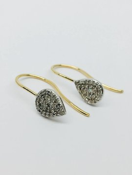 Adina Reyter Teardrop Diamond Earrings