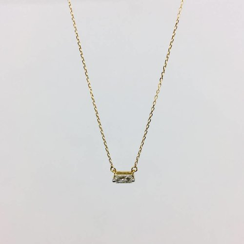 Adina Reyter Tiny Baguette Necklace