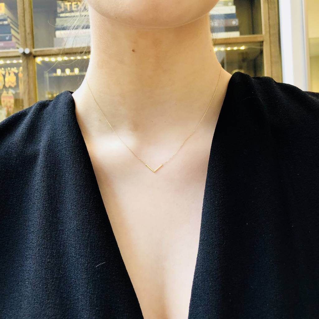 "Adina Reyter Tiny ""V"" Necklace"