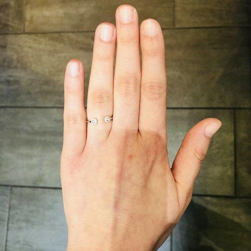 Dana Rebecca White Gold Stacking Ring